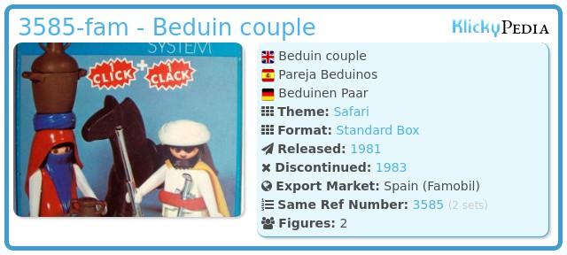 Playmobil 3585-fam - Beduin couple