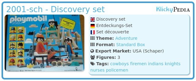 Playmobil 2001-sch - Discovery set
