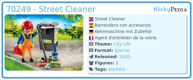 Playmobil 70249 - Sweeper with accessories