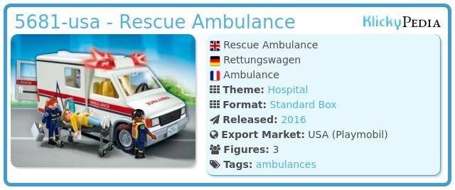 Playmobil 5681-usa - Rescue Ambulance