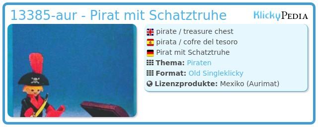 Playmobil 13385-aur - Pirat mit Schatztruhe