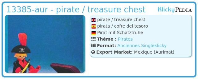Playmobil 13385-aur - pirate / treasure chest