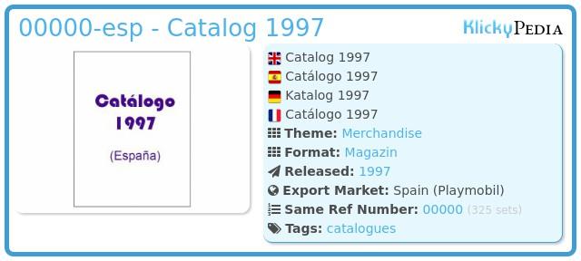 Playmobil 00000-esp - Catalog 1997