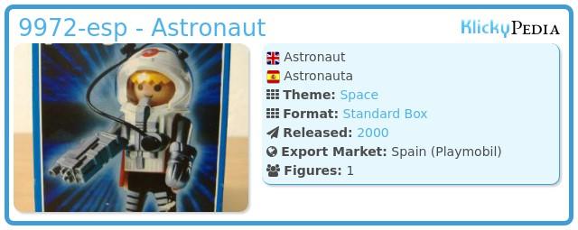 Playmobil 9972-esp - Astronaut