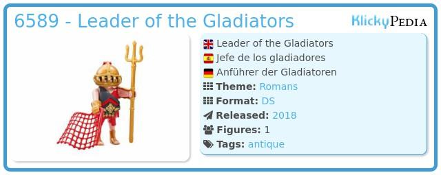 Playmobil 6589 - Leader of the Gladiators