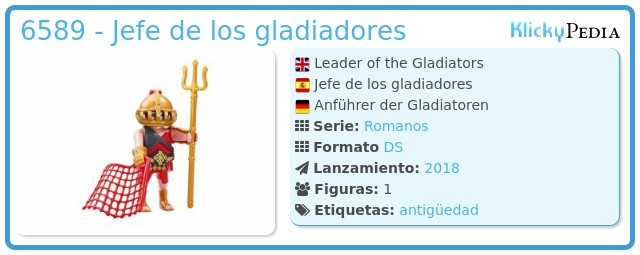 Playmobil 6589 - Jefe de los gladiadores