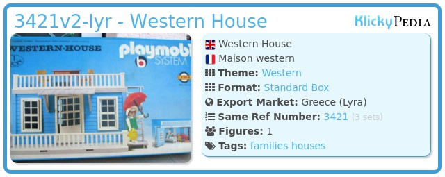 Playmobil 3421v2-lyr - Western House