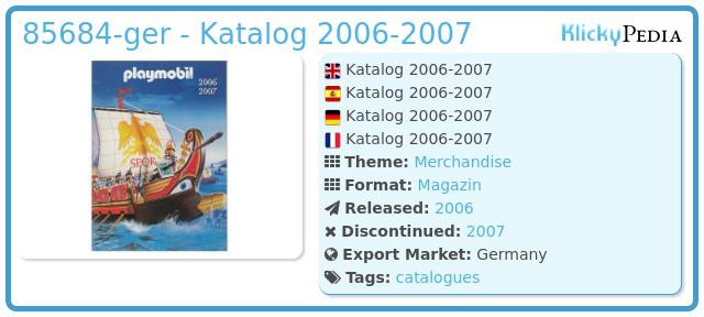 Playmobil 85684-ger - Katalog 2006-2007