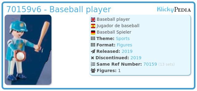 Playmobil 70159-06 - Baseball player
