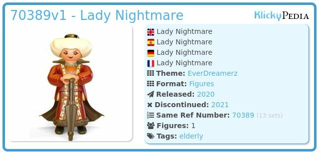 Playmobil 70389V1 - Lady Nightmare