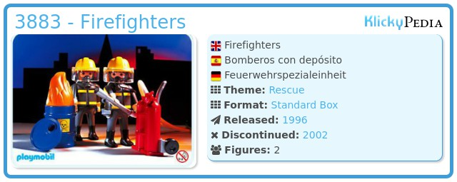 Playmobil 3883 - Firefighters