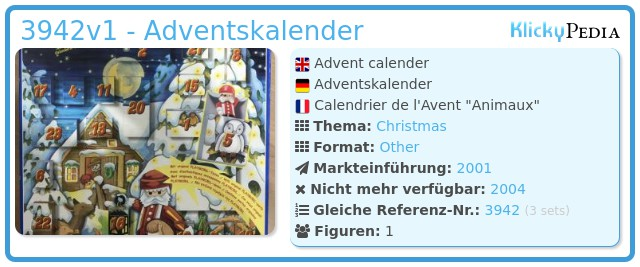 Playmobil 3942v1 - Adventskalender