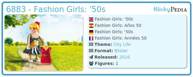 Playmobil 6883 Fifties Fashion Girl