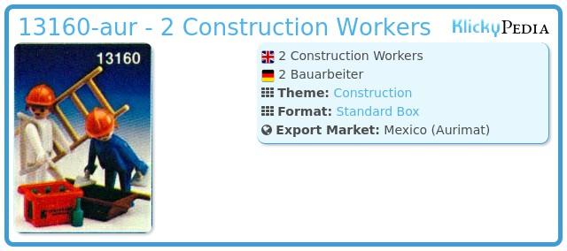 Playmobil 13160-aur - 2 Construction Workers