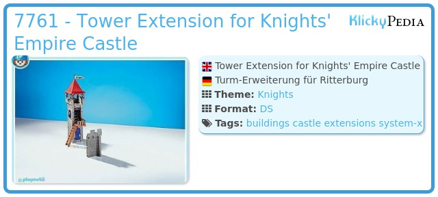 Playmobil 7761 - Tower Extension for Knights' Empire Castle