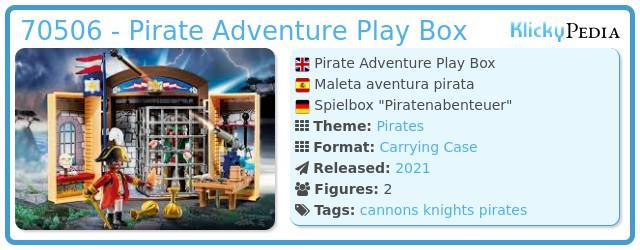 Playmobil 70506 - Pirate Adventure Play Box