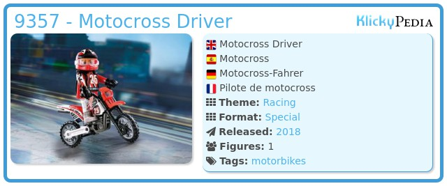 Playmobil 9357 - Motocross Rider