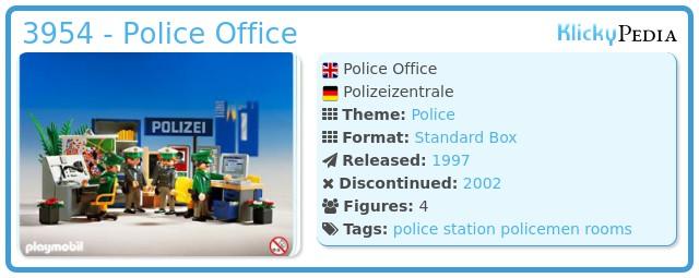Playmobil 3954 - Police Office