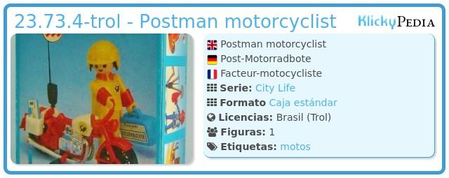 Playmobil 23.73.4-trol - Postman motorcyclist
