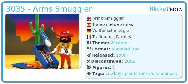 Playmobil 3035 - Arms Smuggler