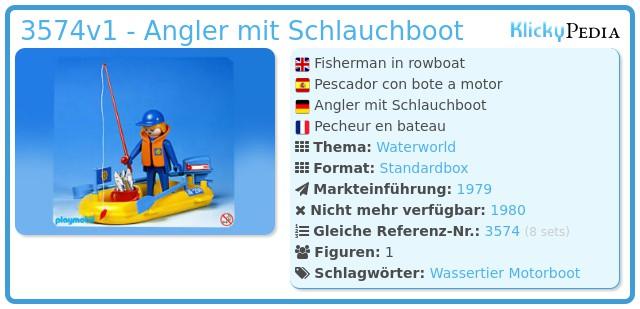 Playmobil 3574v1 - Angler mit Schlauchboot