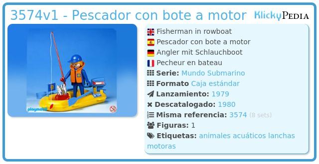 Playmobil 3574v1 - Fisherman In Rowboat