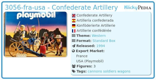 Playmobil 3056-fra-usa - Confederate Artillery