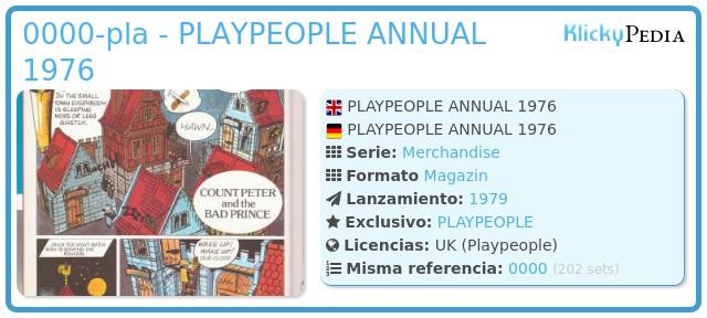 Playmobil 0000-pla - PLAYPEOPLE ANNUAL 1976