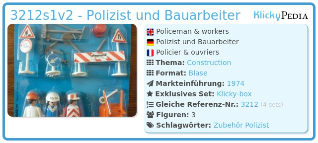 Playmobil 3212s1v2 - Polizist und Bauarbeiter