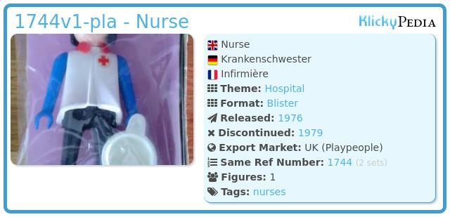 Playmobil 1744v1-pla - Nurse