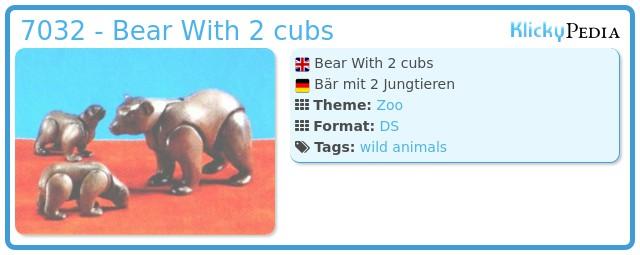 Playmobil 7032 - Bear With 2 cubs