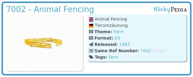 Playmobil 7002 - Animal Fencing