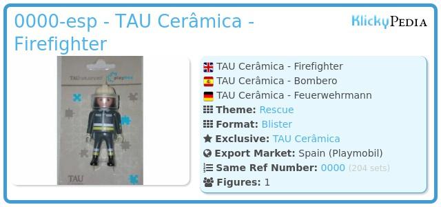 Playmobil 0000-esp - TAU Cerâmica - Firefighter