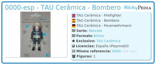 Playmobil 0000-esp - TAU Cerâmica - Bombero