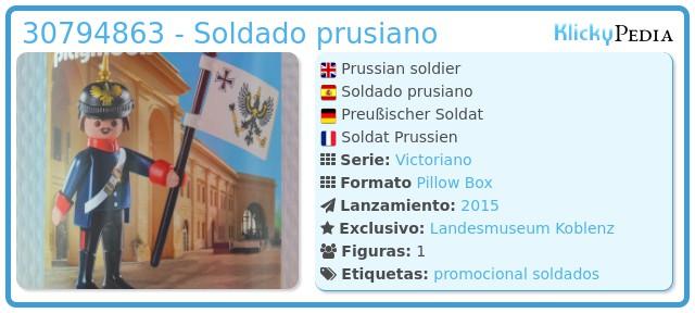 Playmobil 30794863 - Soldado prusiano