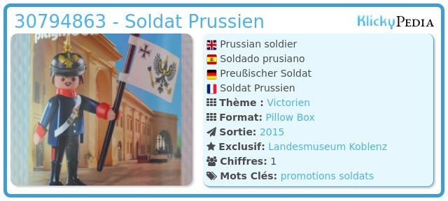 Playmobil 30794863 - Soldat Prussien