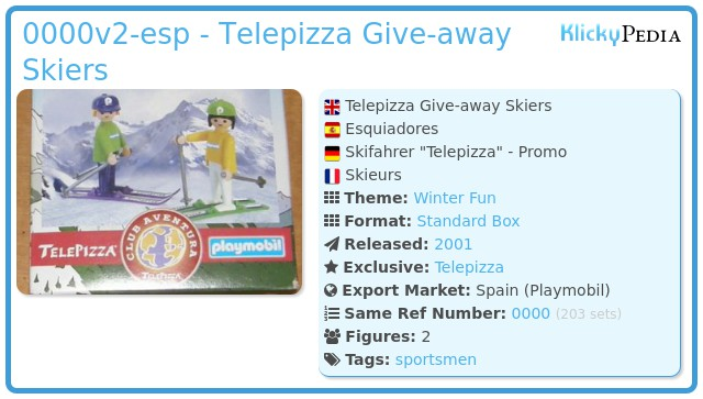 Playmobil 0000v2-esp - Telepizza Give-away Skiers