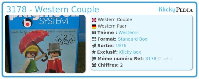 Playmobil 3178 - Western Couple