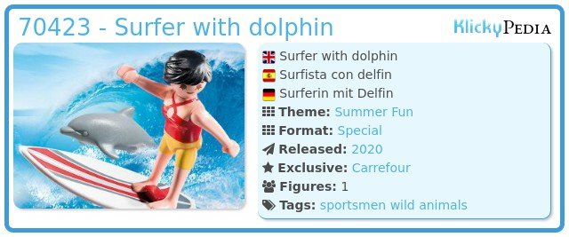 Playmobil 70423 - Surfer with dolphin