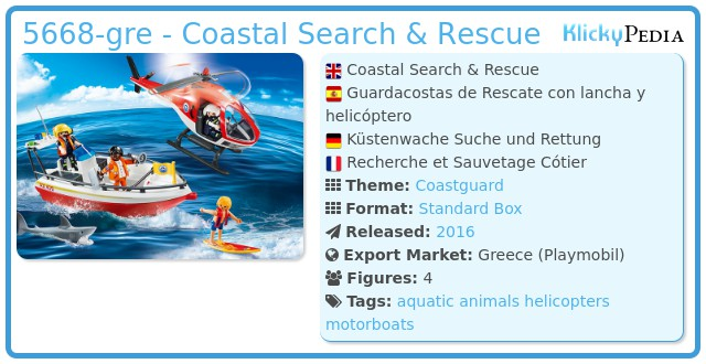Playmobil 5668-gre - Coastal Search & Rescue