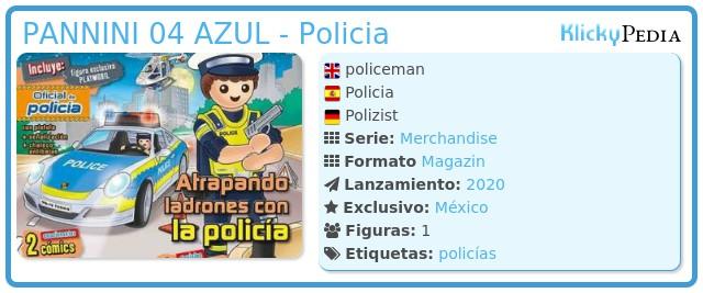 Playmobil PANNINI 04 AZUL - Policia