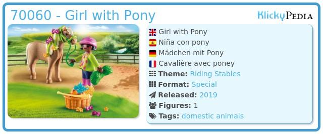 Playmobil 70060 - Girl With Pony