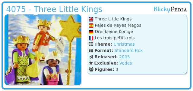Playmobil 4075 - Three Little Kings