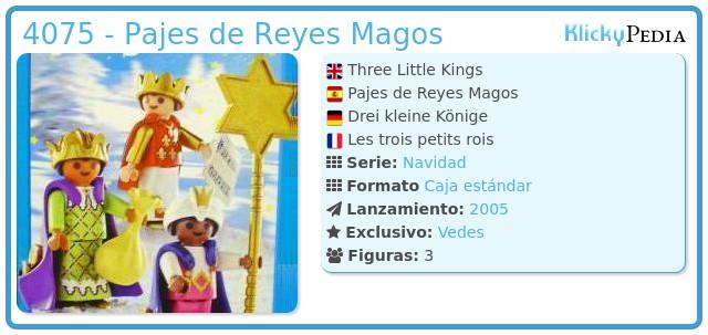 Playmobil 4075 - Pajes de Reyes Magos