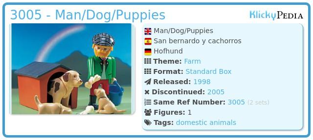 Playmobil 3005 - Man/Dog/Puppies