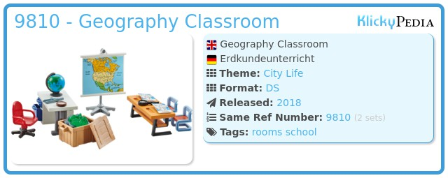 Playmobil 9810 - Geography Classroom