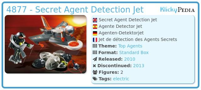 Playmobil 4877 - Secret Agent Detection Jet