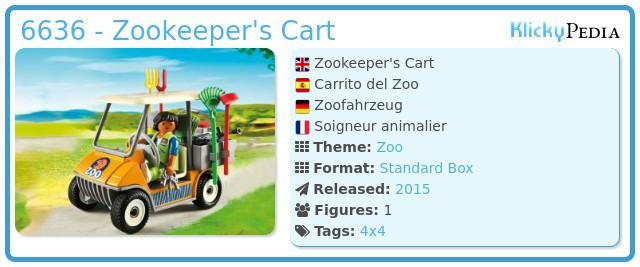 Playmobil 6636 - Zookeeper's Cart