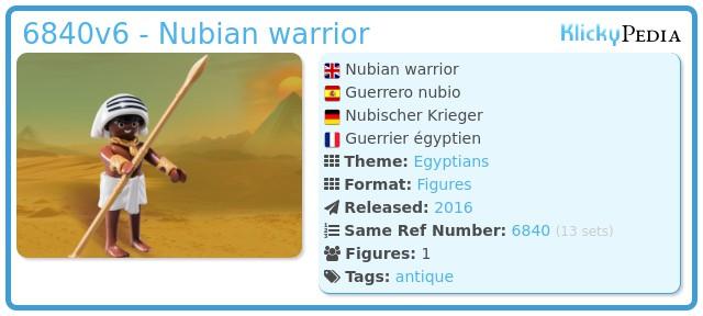 Playmobil 6840v6 - Nubian warrior