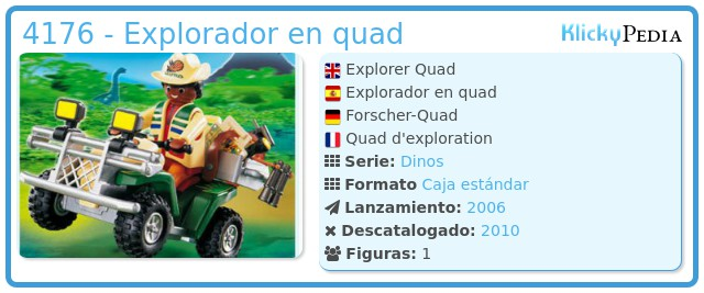 Playmobil 4176 - Explorador en quad